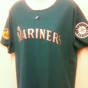 MLB Seattle Mariner's Women's Large Top